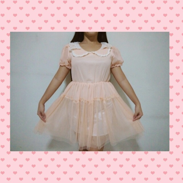 SALE! PHP380 Before, PHP300 now! Peachy knitted floral dress