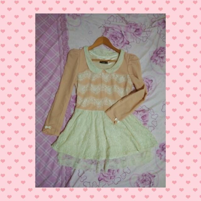 Peachy long sleeves dress Tags: Lolita Liz lisa Japanese Dress
