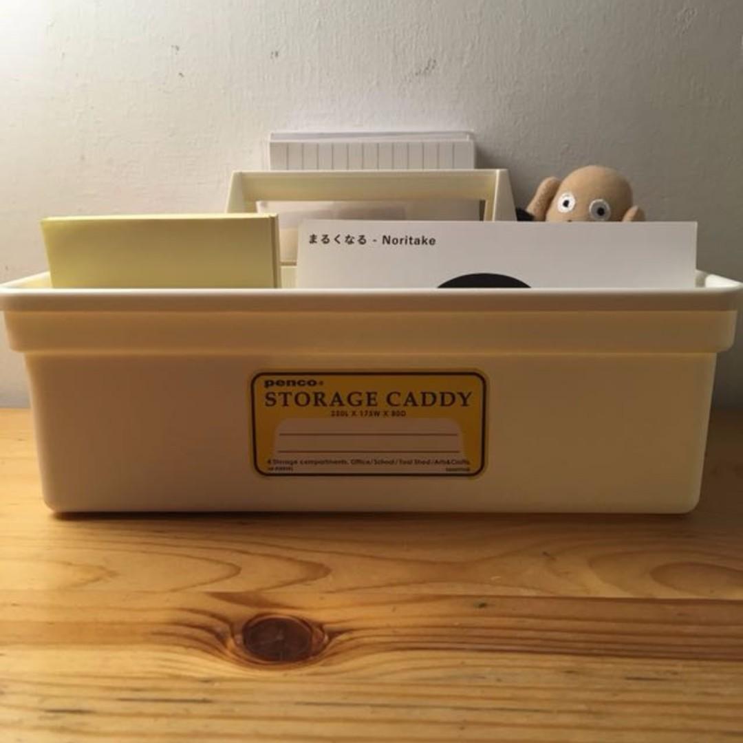 Penco 可攜式桌上收納盒 白色