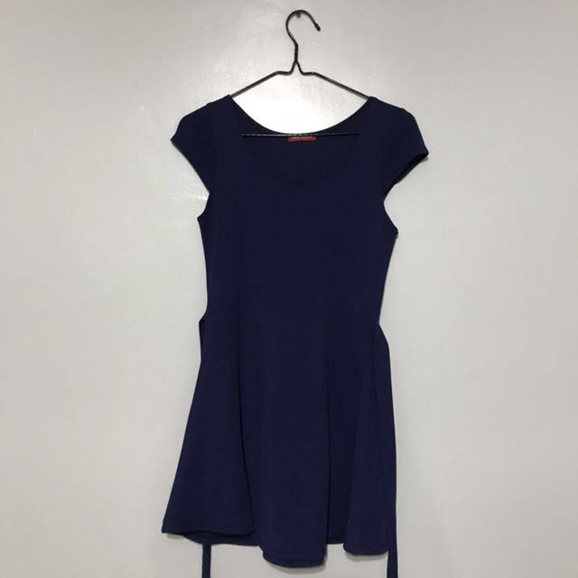 petit monde navy blue dress