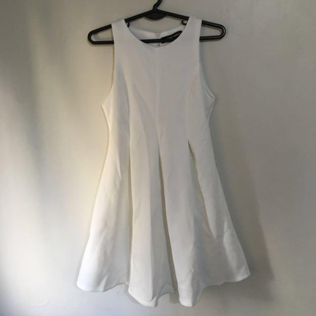 Pink Manila White Dress