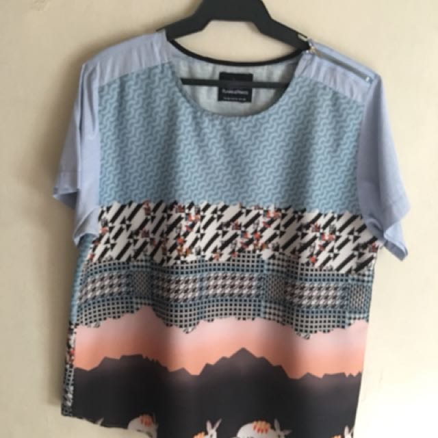 Plains & Prints Top XL