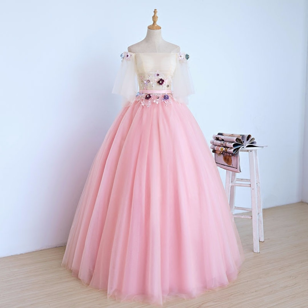 pre order pink off shoulder unicorn wedding bridal ball evening prom ...