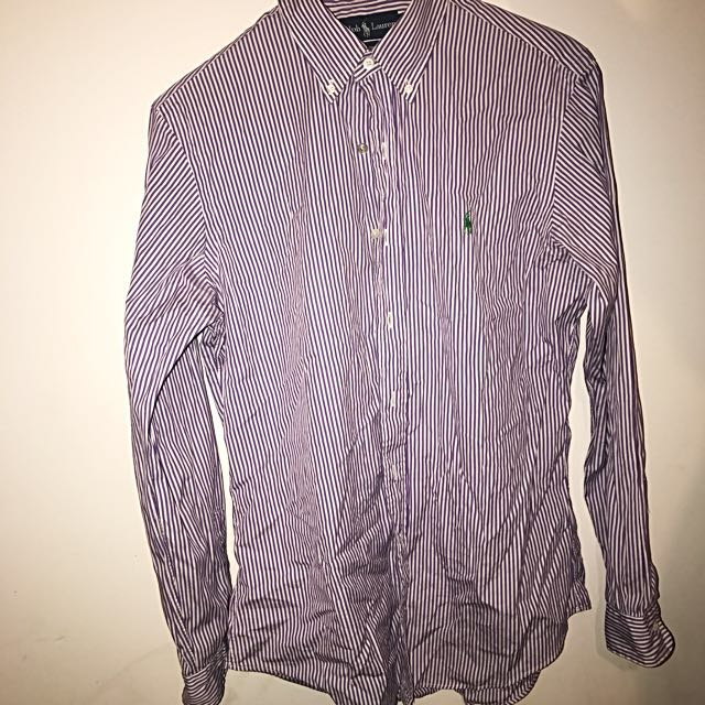 Ralph Lauren purple with green horse size M