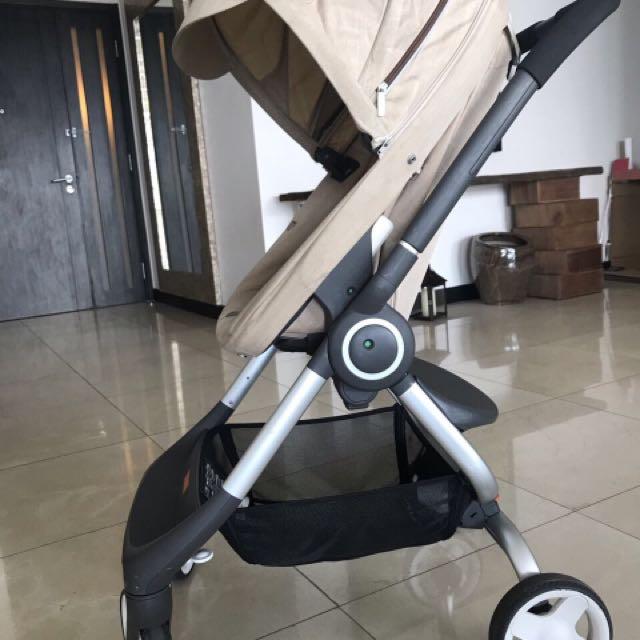 Rare Stokke Scoot Urban Stroller Beige