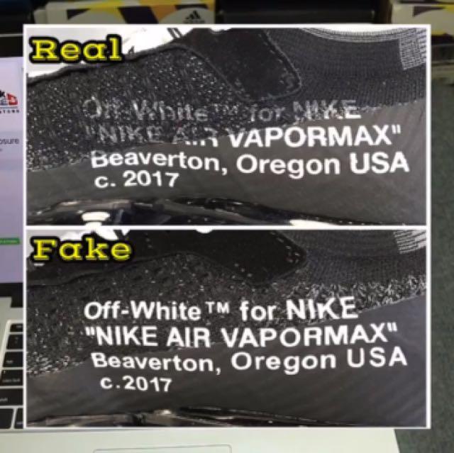 Real Vs Fake Off White Vapormax, Men\u0027s Fashion, Footwear on