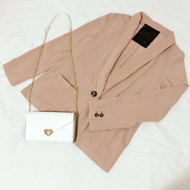 日本日貨Rika RETRO GIRL可可色西裝薄外套