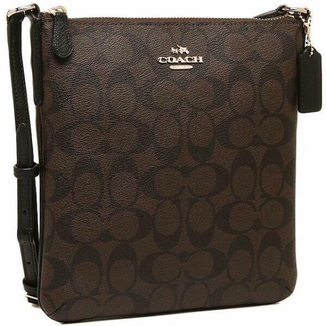 fdfc163f8cb4 Sale!! Coach signature sling bag dark brown