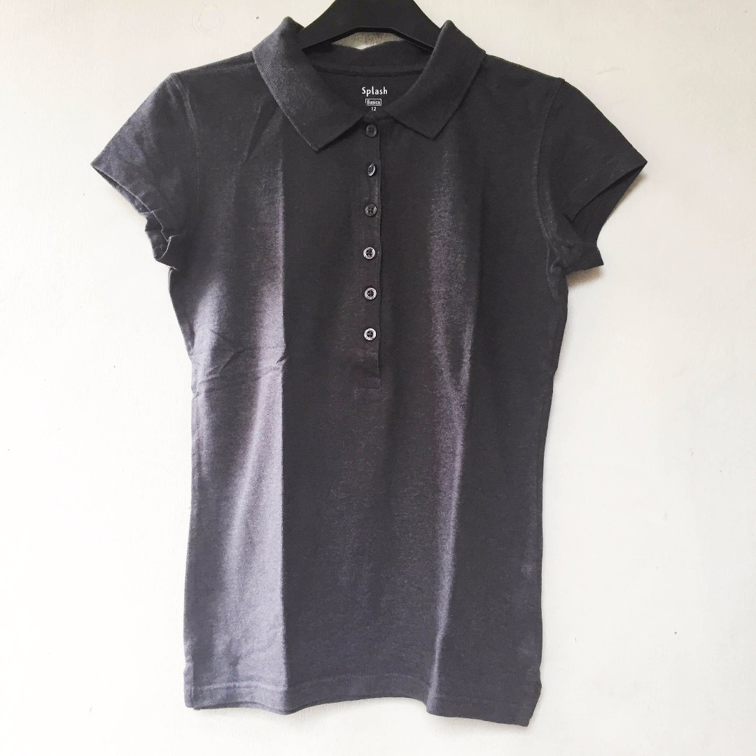 Splash grey polo shirt