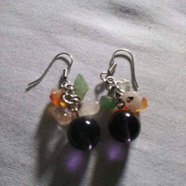Stone earrings from avon