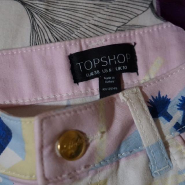 Topshop pastel retro skirt