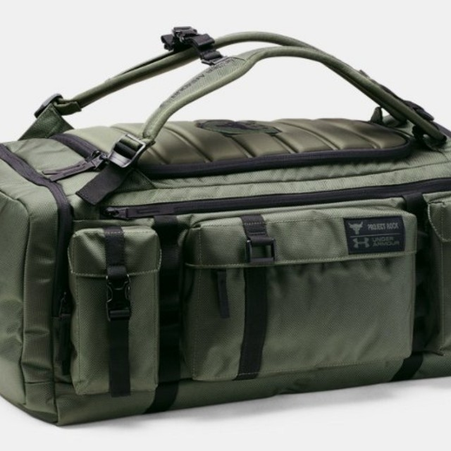 3a807c3e1bc Under Armour x Project Rock USDNA Range Duffle (Green), Men s Fashion, Bags    Wallets on Carousell