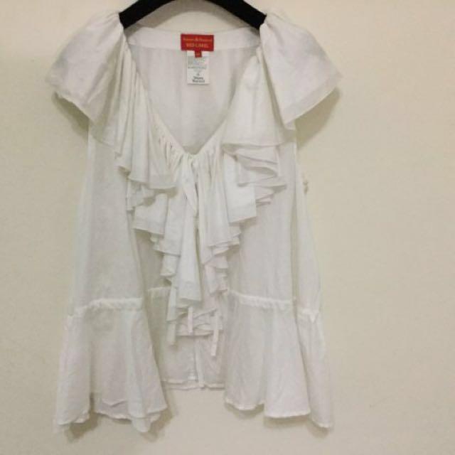 Vivienne Westwood 白色維多利亞造型上衣