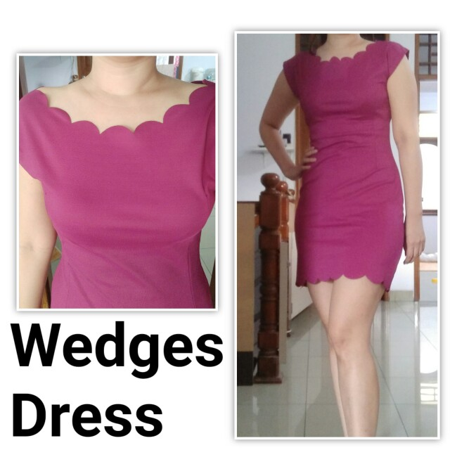 Wedges Purple Dress