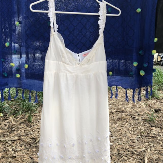 White lace dress summer