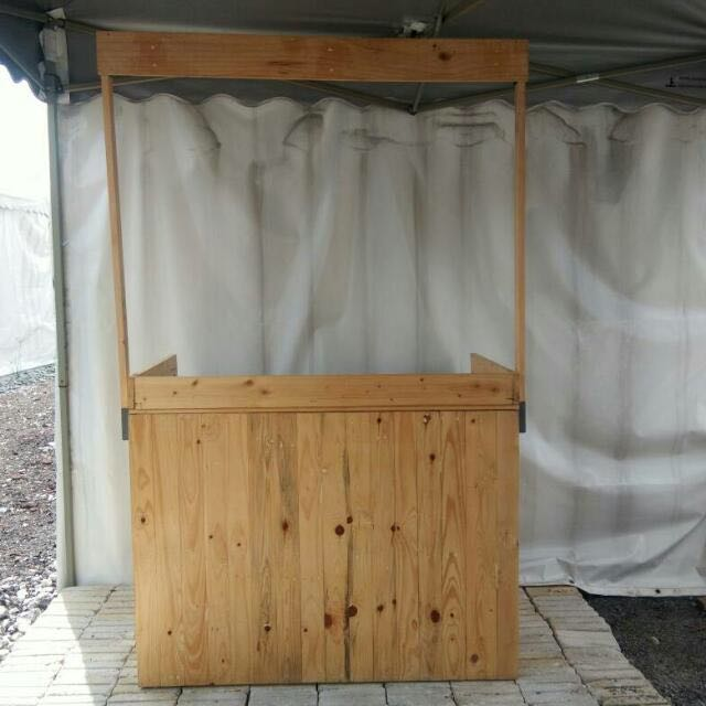 Wooden kiosk for small business