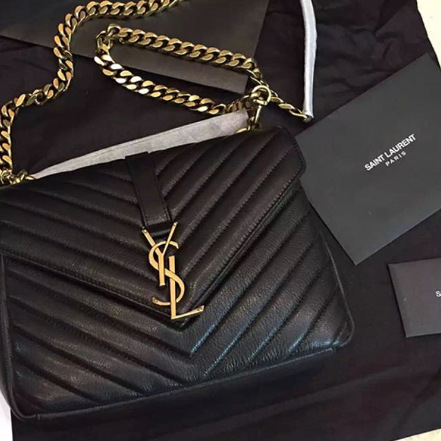 80524e478ac8 YSL SAINT LAURENT MEDIUM COLLEGE BAG