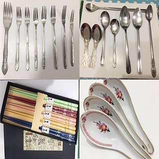 清倉便宜賣-全新湯匙/叉子/餐具