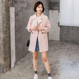 全新MADE IN KOREA 粉色外套
