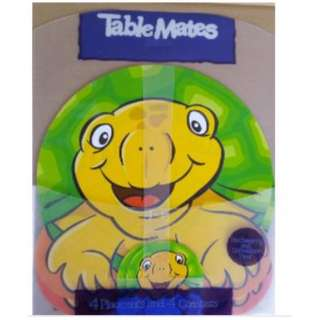 Cute Animal Shaped Table Mat c/w 4 Placemat & 4 Coaster Turtle (New)
