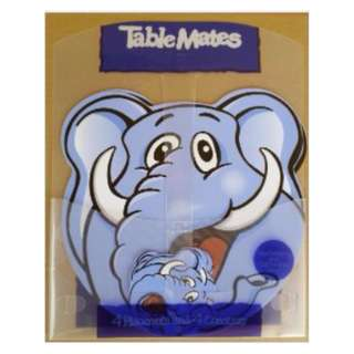 Cute Animal Shaped Table Mat c/w 4 Placemat & 4 Coaster Elephant (New)