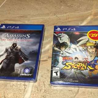 Naruto and Assassins Creed (Brand New) PS4