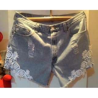 Plus Size tattered denim shorts from BKK