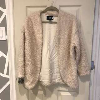h&m fuzzy sweater/jacket size 2, condition 10/10