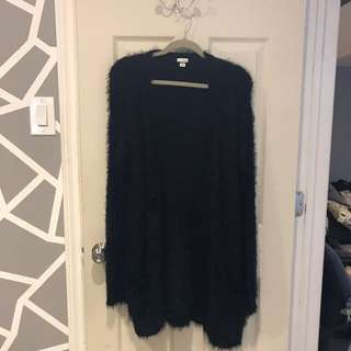 long fuzzy cardigan size xsmall-small condition 10/10