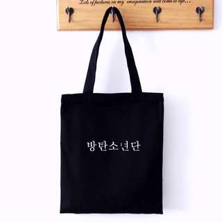 "BTS TOTE BAG""방탄소년단"""