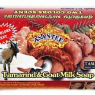 Asantee Tamarind & Goat Milk Extract Honey +AHA Collagen Herbal Whitening Soap
