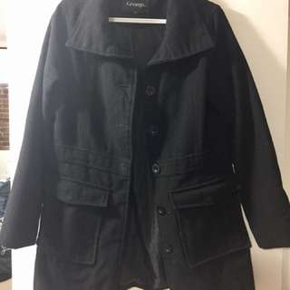 Women's black coat size Small good condition!