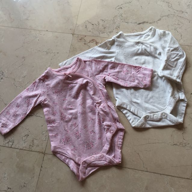 0-3M 2pcs Mothercare Bodysuits