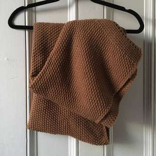 Knit Blanket Scarf, long