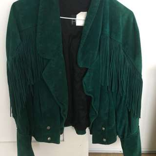 Forest Green Suede Vintage Jacket
