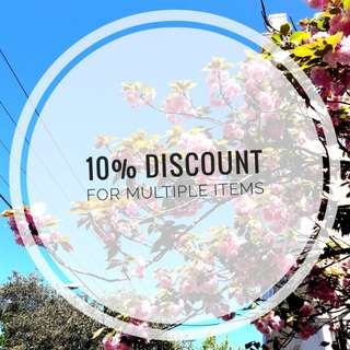 10% Discount for Multiple Items