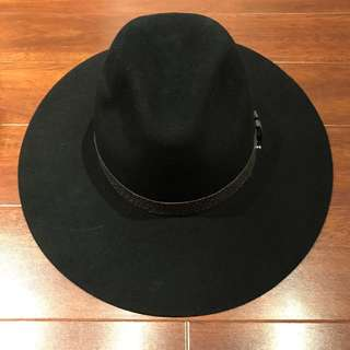 New Rag & Bone Wool Felt Wild Brim Fedora Hat