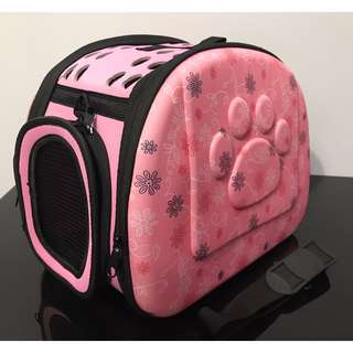 NEW (medium pink) cat kitten puppy dog carrier bag carry cage pet