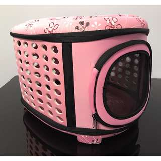 NEW (large pink) cat kitten puppy dog carrier bag carry cage pet