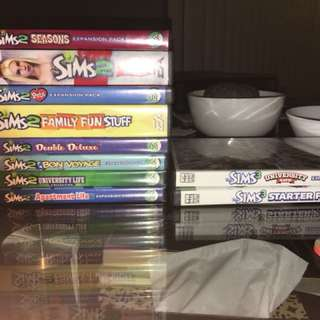 Sims 2 and 3 PC games