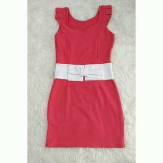 Ribbon Peach dress