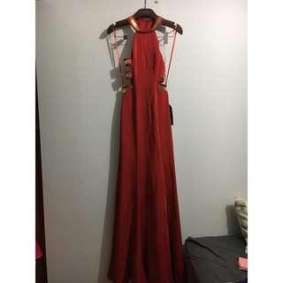 GASP La Femme 22568 Designer Red Gown Party Formal Dress Size USA 4