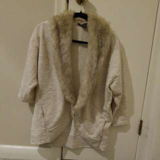 Armani Exchange Fur Cardigan