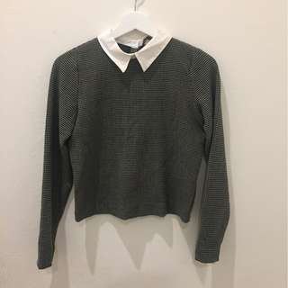 ZARA- Shirt with collar- size Small