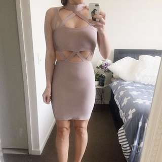Missguided bandage dress