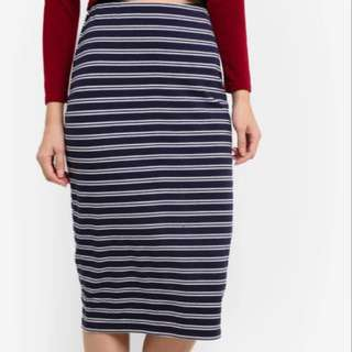 Zalora striped bodycon skirt