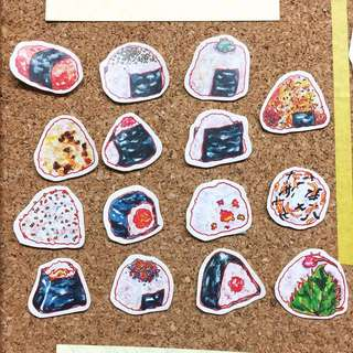 Onigiri stickers (15 types)