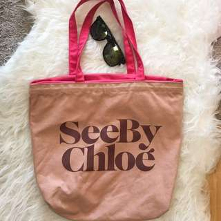 Authentic See by Chloe canvas tote