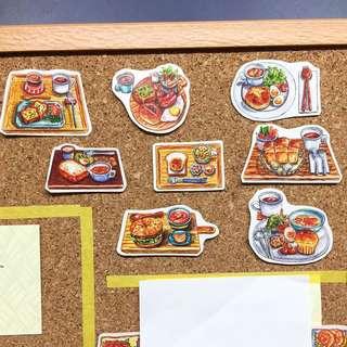 Brunch stickers (8 types)