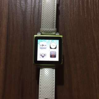 Apple Ipod Nano 8G with Leather watch band